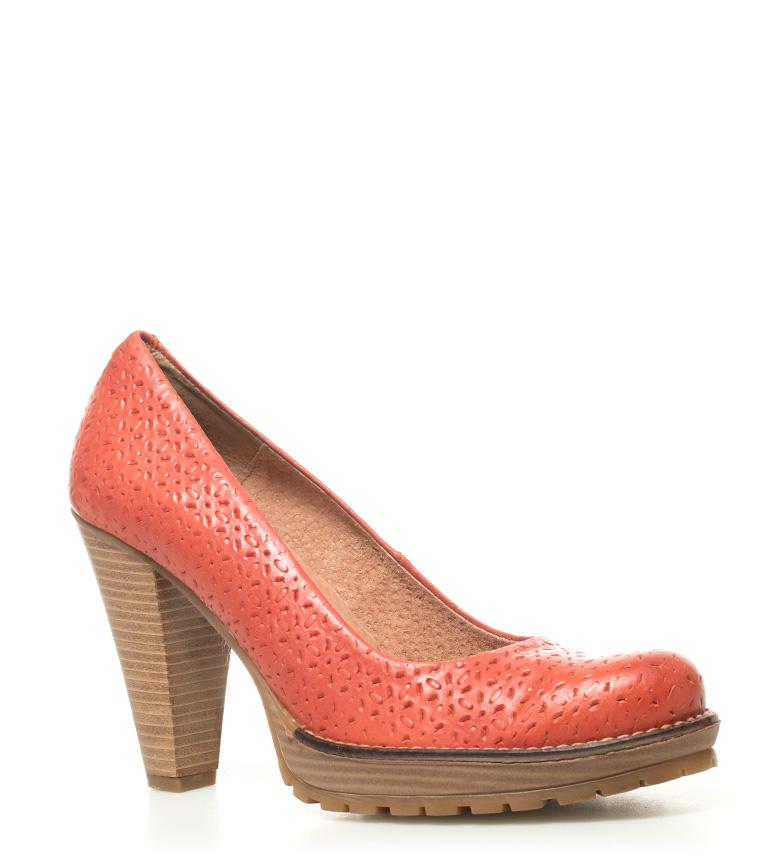 Mustang Zapatos tacón Zapatos Altura piel Mustang de 10cm coral Madino HwHTrqAC