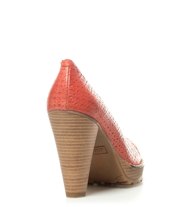 de Altura coral piel Mustang 10cm Mustang Zapatos Madino tacón Zapatos SIY0wtxq