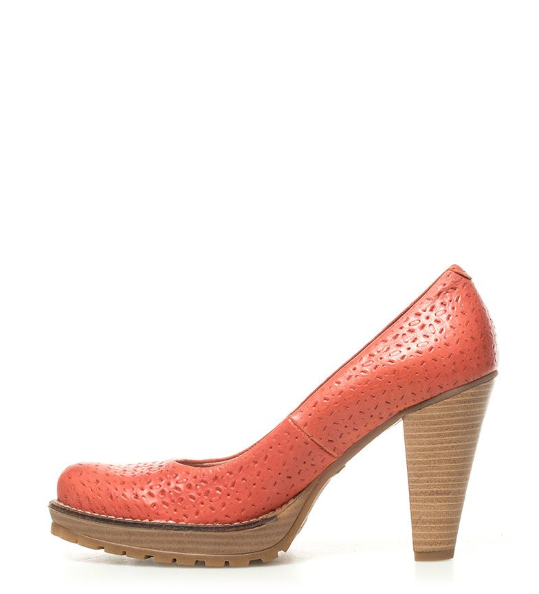 piel Mustang 10cm de Altura tacón coral Madino Zapatos TFUnFO7
