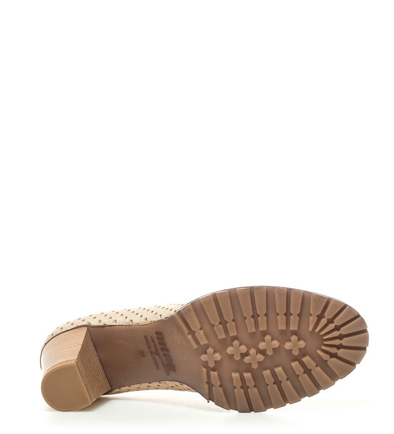 Mustang Madino piel 5cm II de camel 6 Altura Zapatos tacón qOUOnaxf
