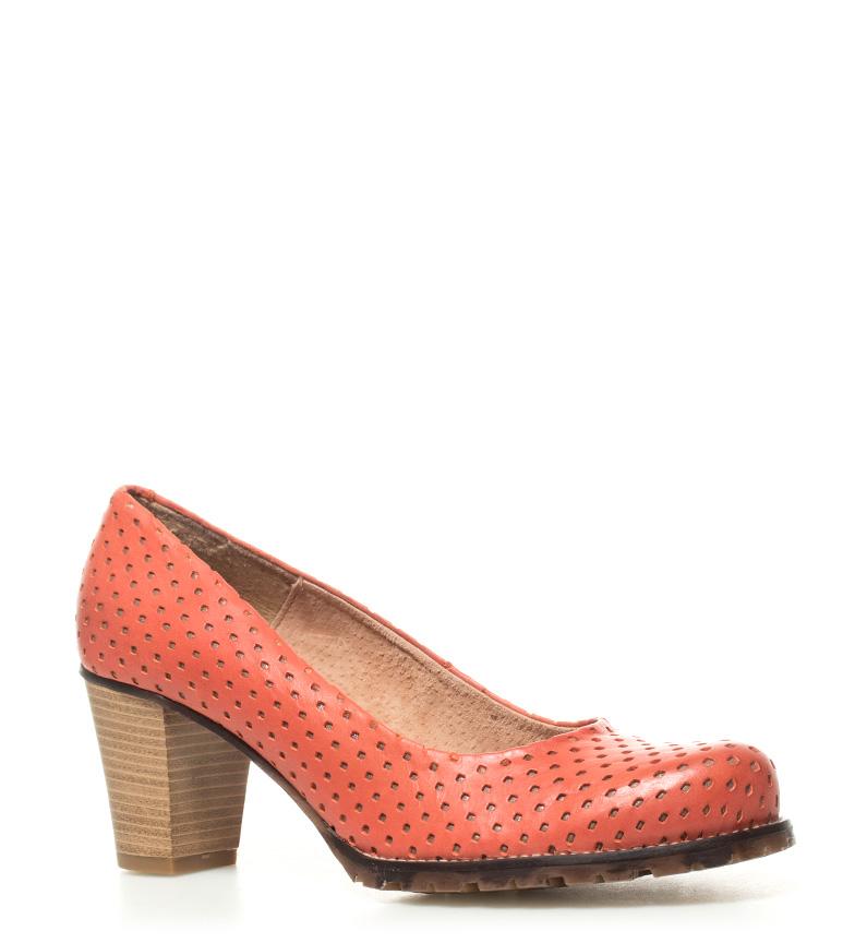 5cm Madino II Altura de piel tacón coral Mustang 6 Zapatos tIzHBR