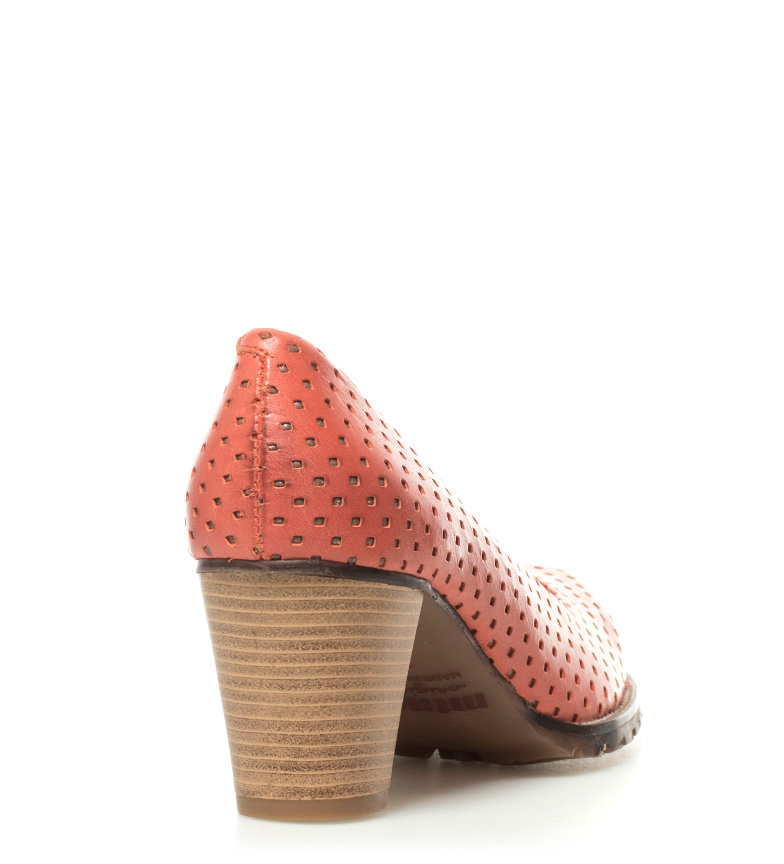 piel 6 Madino Zapatos Altura II coral tacón de Mustang 5cm qw7vEAE