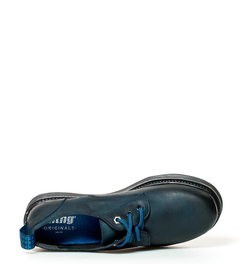 Sprint Sprint piel de piel Zapatos de Zapatos marino Mustang Mustang 07gx8vqxEw
