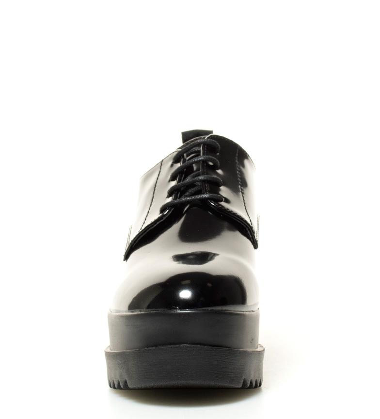 Double Zapatos plataforma Mustang Zapatos Double Mustang br 7cm negro br Altura negro br wP5YY6ax