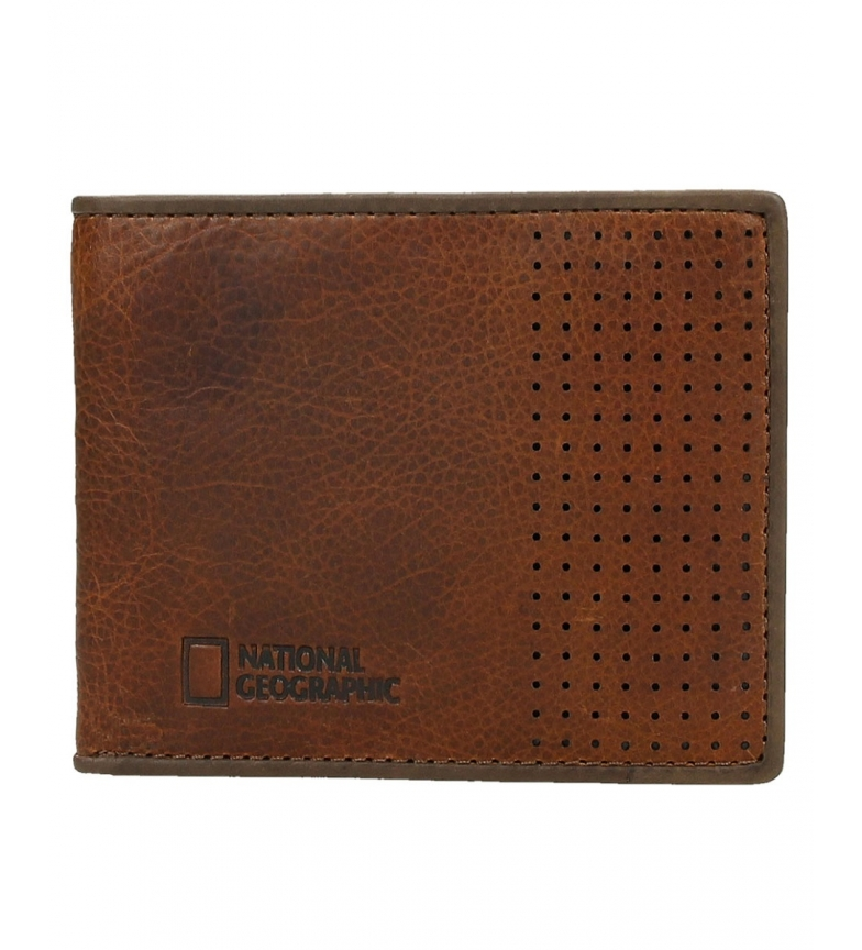 Comprar National Geographic Comet brown leather wallet -1,5x11x9cm-