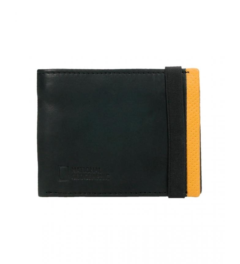 Comprar National Geographic Portefeuille en cuir Volcan noir, jaune -1,5x11x9cm-
