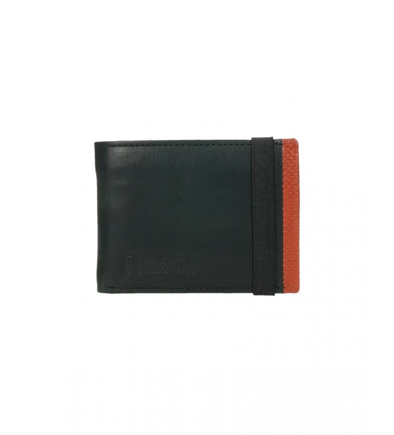 Comprar National Geographic Billetero de piel Volcano negro, naranja -2x10,5x8cm-
