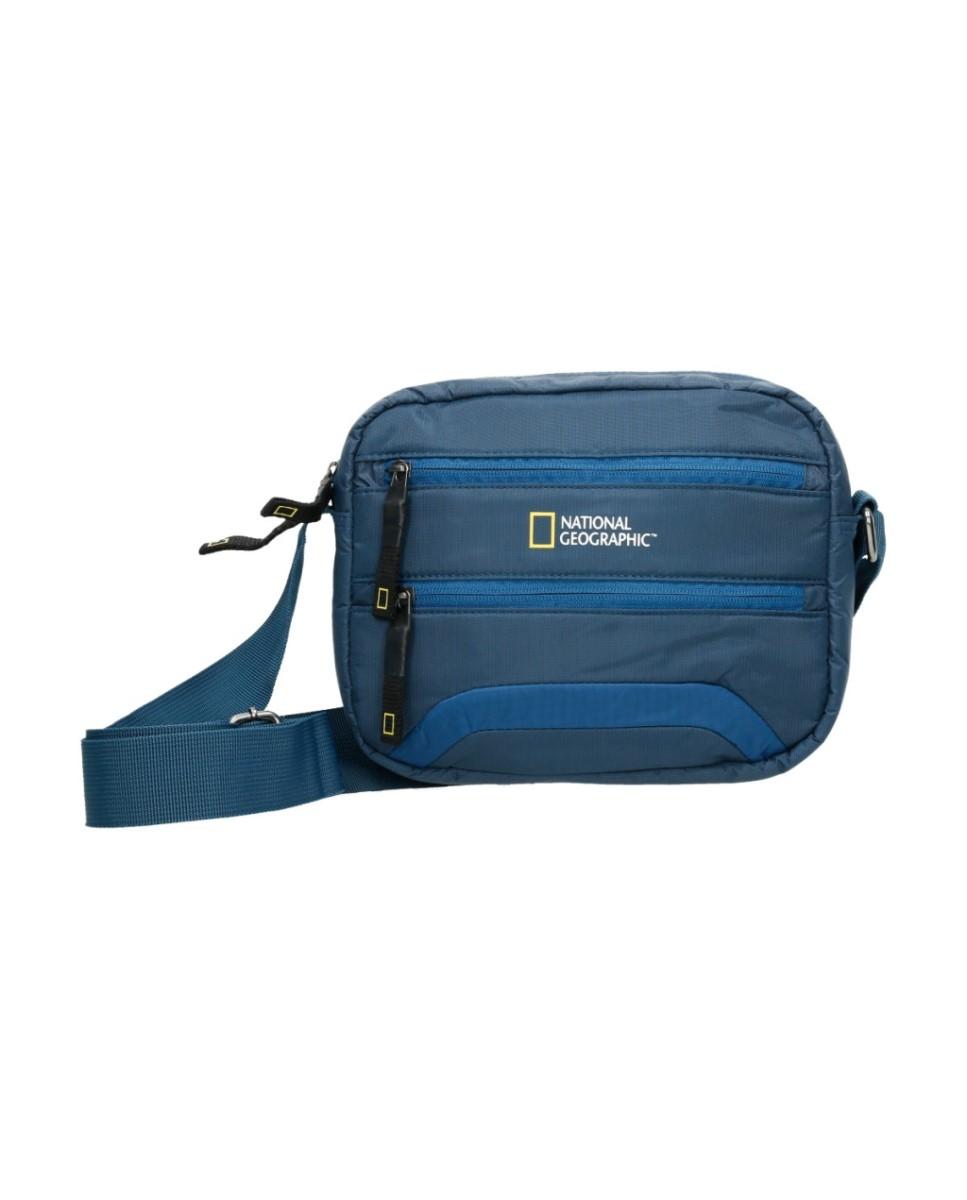 Comprar National Geographic Découvrez le sac à bandoulière bleu -24x7x18cm-