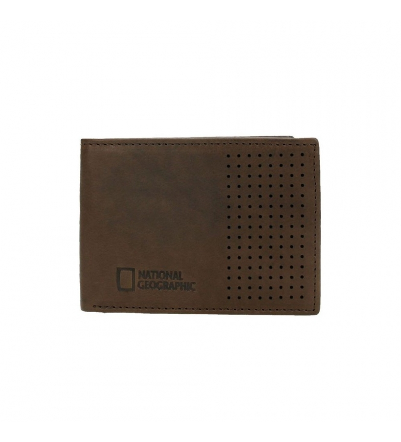 Comprar National Geographic Leather wallet Crater brown -2x10,5x8cm-