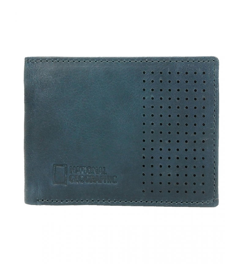 Comprar National Geographic Blue Crater leather wallet -2x10.5x8cm-