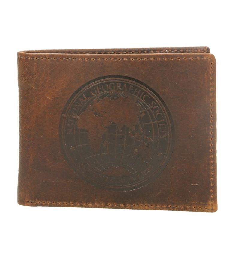 Comprar National Geographic Billetero de piel Moscú marrón -2x10,5x8cm-