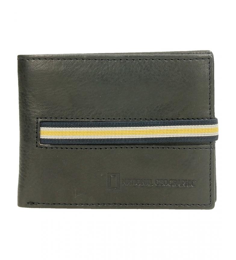 Comprar National Geographic Portefeuille en cuir noir -2x10,5x8cm-