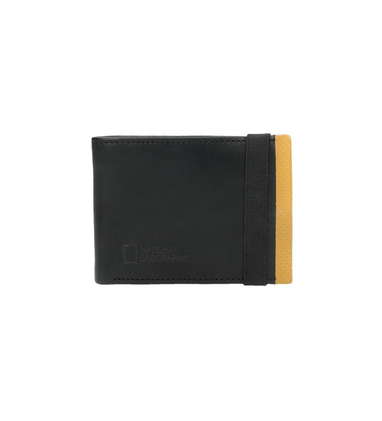 Comprar National Geographic Portefeuille en cuir Volcan noir, jaune -2x10.5x8cm-