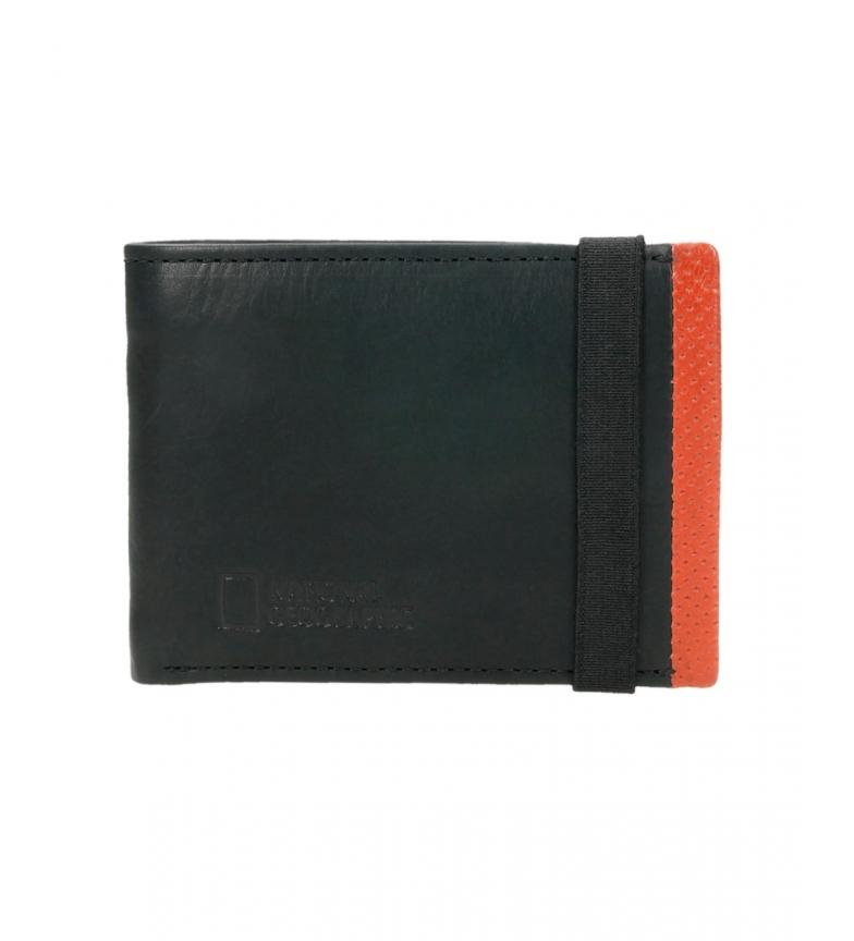 Comprar National Geographic Portefeuille en cuir Volcan noir, rouge -2x11x9cm-