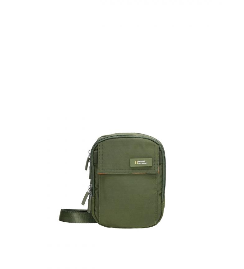 Comprar National Geographic Academy khaki shoulder bag -14,5x7,5x19cm