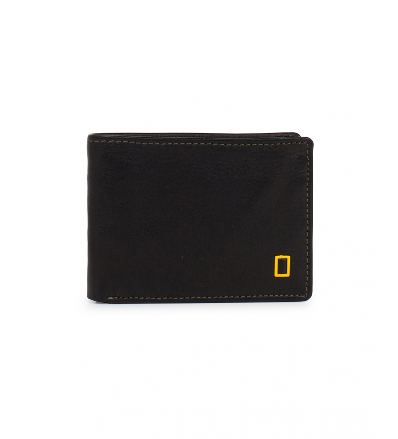 National Geographic Fire leather wallet black -2x10,5x8cm