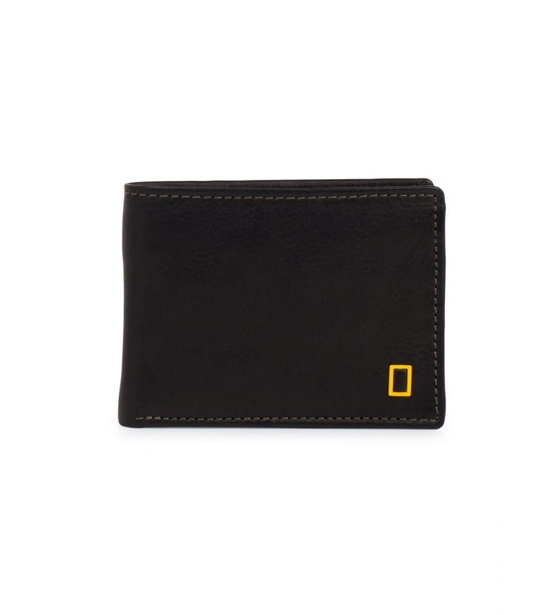 Comprar National Geographic Fire leather wallet black -2x11x9cm