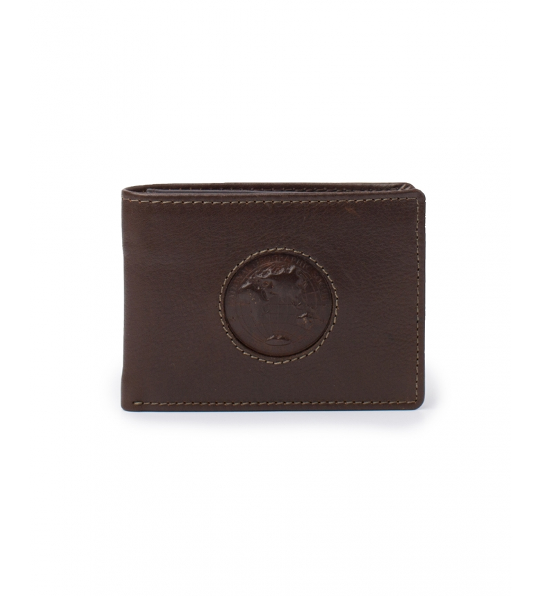 Comprar National Geographic Brown Rain leather wallet -2x11x9cm