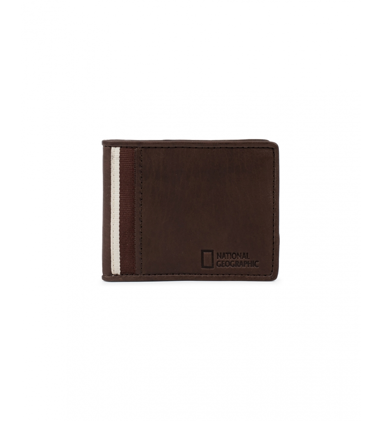 Comprar National Geographic Leather wallet Wind brown -2x10,5x8cm