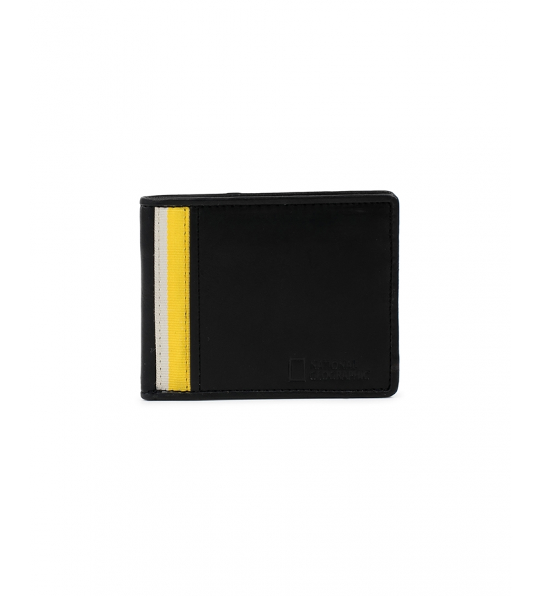 Comprar National Geographic Leather wallet Wind black, yellow -2x10,5x8cm
