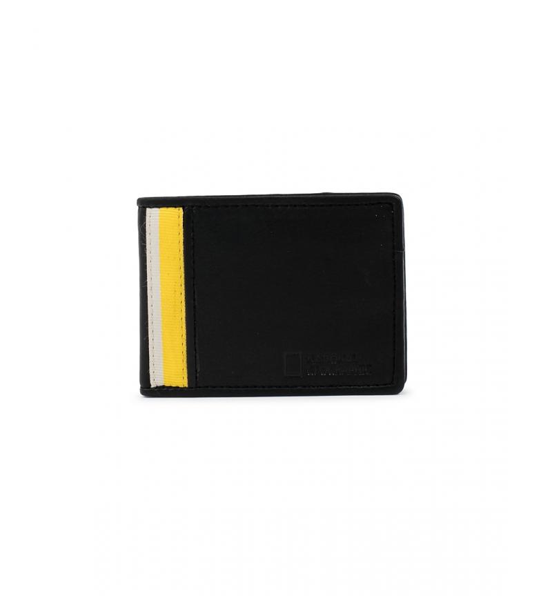 Comprar National Geographic Billetero de piel Wind negro, amarillo -2x11x9cm-