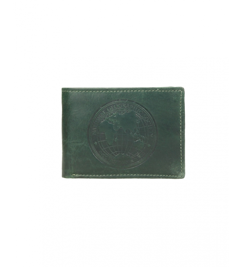 Comprar National Geographic Portefeuille Moscou en cuir vert -2x10,5x8cm