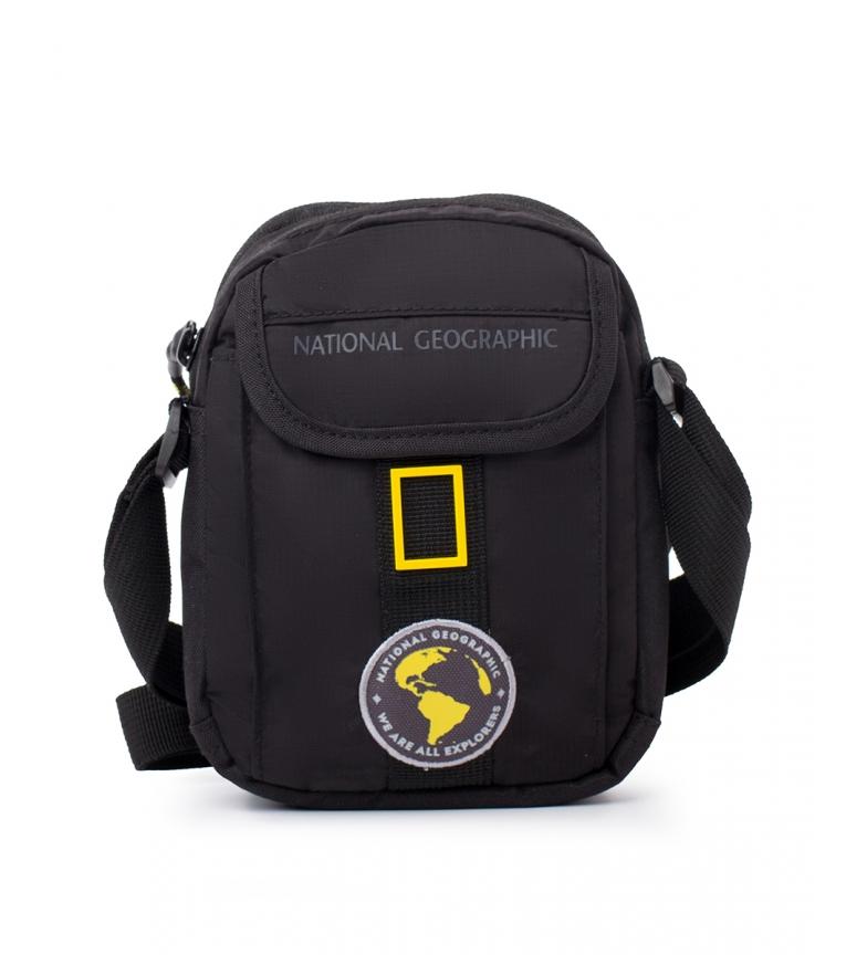 National Geographic Borsa a tracolla New Explorer nera -13x6x18cm