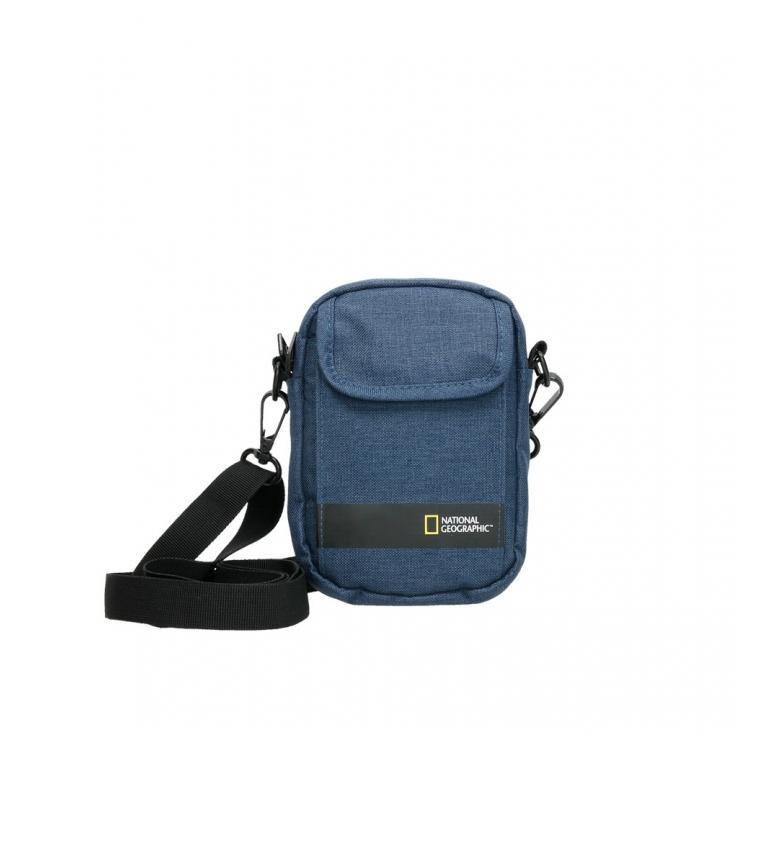 Comprar National Geographic Stream blue shoulder bag -13,5x4x18,5cm