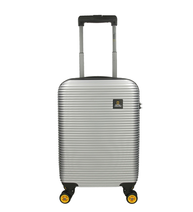 National Geographic Valigia cabina all'estero argento 35X20X54Cm