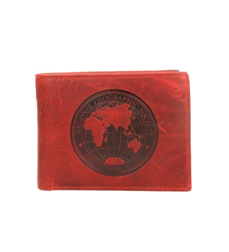 Comprar National Geographic Billetero de piel Moscú rojo -2x10,5x8 cm-