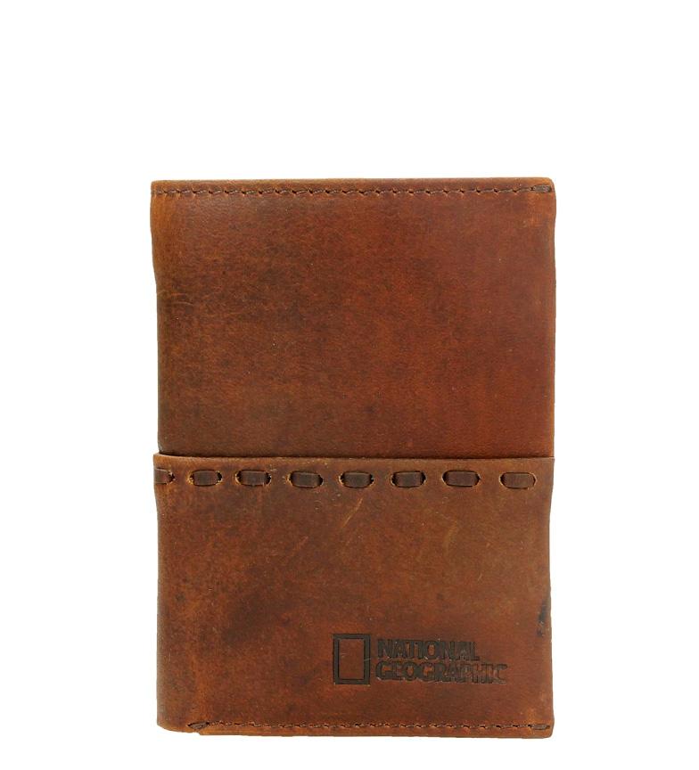 Comprar National Geographic Serpent cuir marron billfold -1,5x11x9 cm-