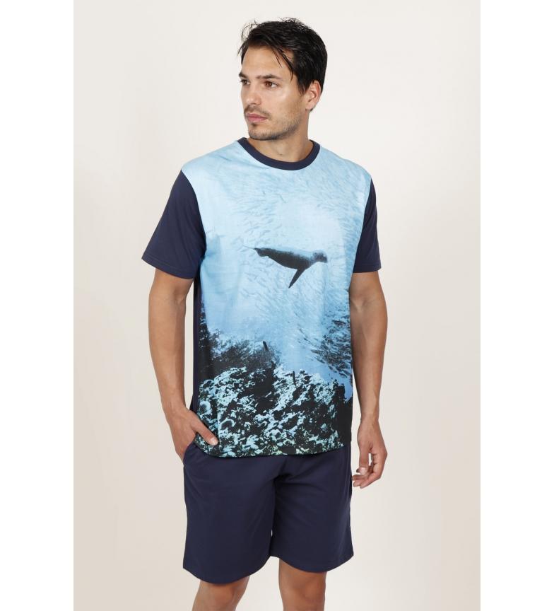 Comprar National Geographic Ocen Men's Short Sleeve Pajamas Blue