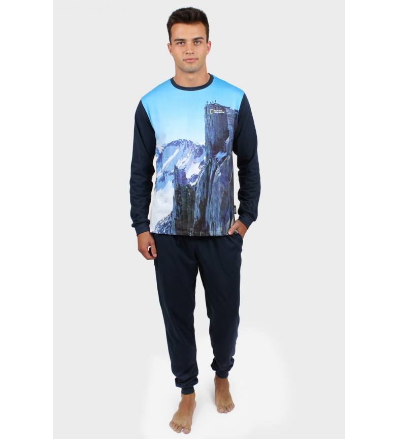 Comprar National Geographic Pajama Long Sleeve Mountain blue