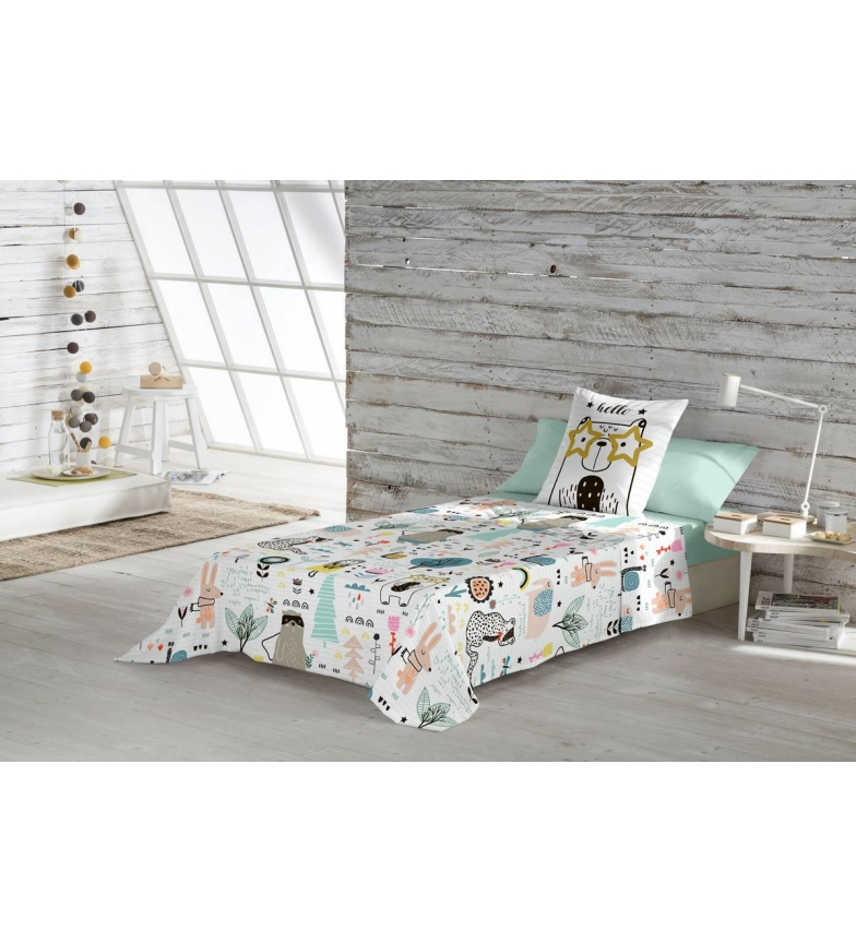 Comprar Naturals Set di fogli Animal Hello -Cama 105cm-