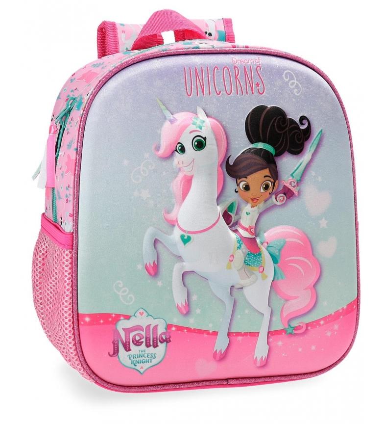 Comprar Nella Nella Unicorns Sac à dos pour enfant d'âge préscolaire 25cm frontal 3D Front 3D -25x23x10 cm-