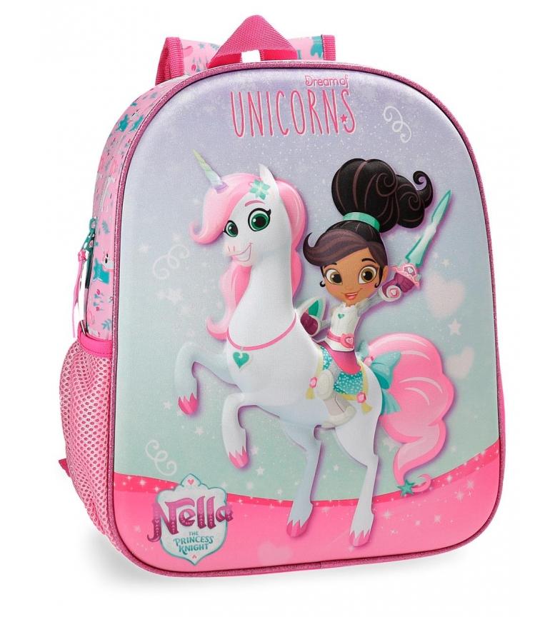 Comprar Nella Mochila Preescolar Nella Unicorns 33cm -33x27x11 cm-