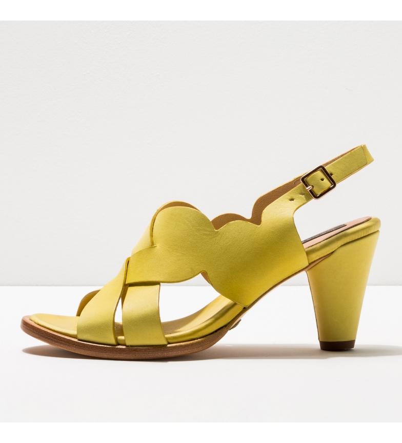 Comprar NEOSENS S035 Sandali Montua in pelle gialla -Altezza tacco: 7,5cm-