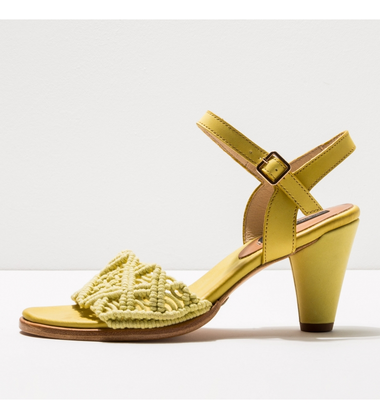 Comprar NEOSENS Sandales en cuir S036 Montua jaune -Hauteur du talon : 7,5cm- -Hauteur du talon : 7,5cm- -Sandales en cuir S036 Montua jaune