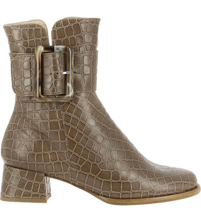 Comprar NEOSENS Bottines en cuir d'alligator marron S3044 - Hauteur du talon : 5,2cm