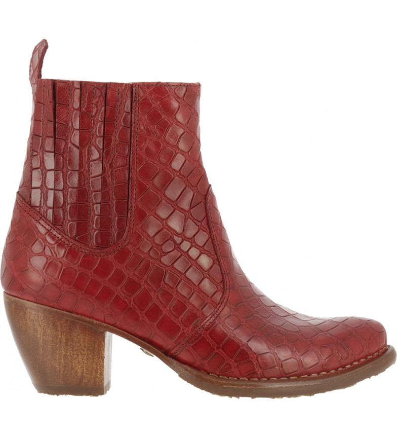 Comprar NEOSENS Botas de couro para tornozelo S3102 Munson vermelho -Altura do calcanhar: 5,5cm- -Altura do calcanhar: 5,5cm- -Altura do calcanhar: 5,5cm- -Altura do calcanhar: 5,5cm-
