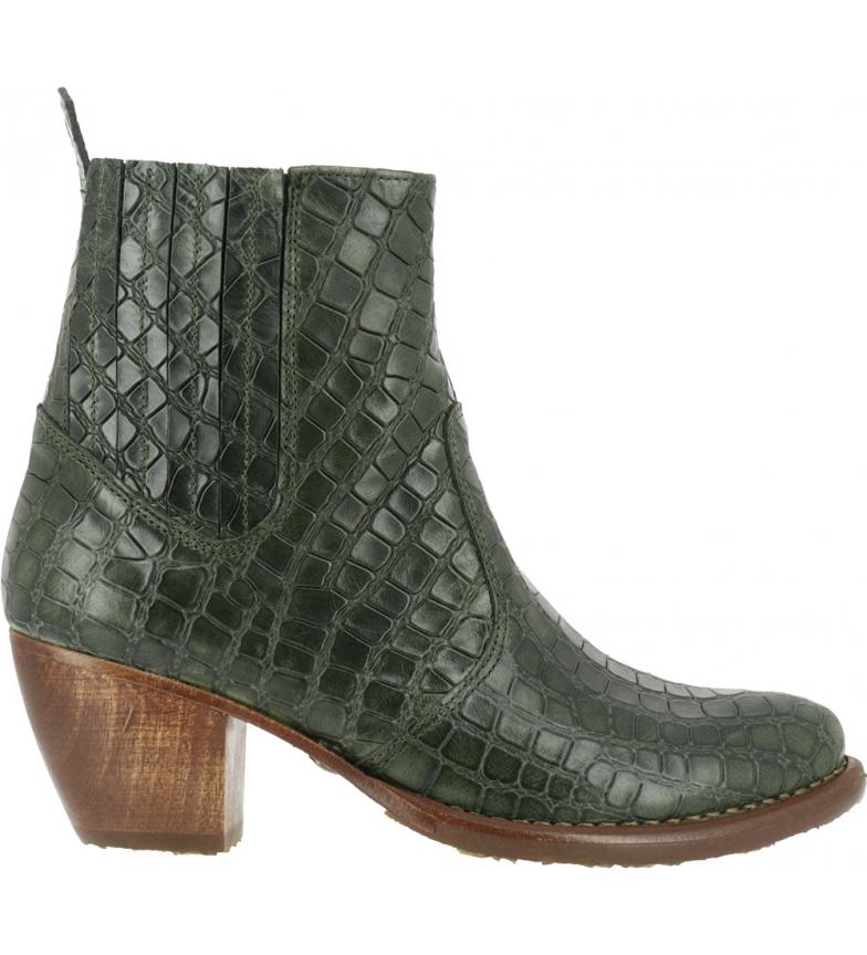 Comprar NEOSENS Botas de couro de jacaré verde S3102 -Altura do calcanhar: 5,5cm