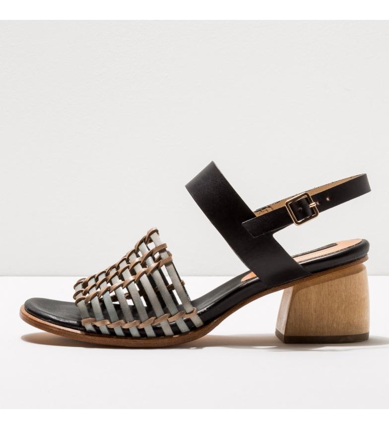 Comprar NEOSENS Sandales en cuir S3145 Verdiso noir, gris -Hauteur du talon : 5cm