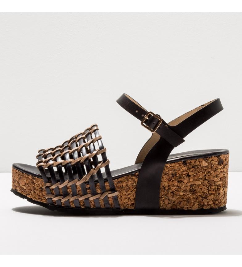 Comprar NEOSENS Leather sandals S3220 Arroba black -Height of the wedge: 6,5cm- -Leather sandals S3220 Arroba black -Height of the wedge: 6,5cm- -Leather sandals S3220 Arroba black