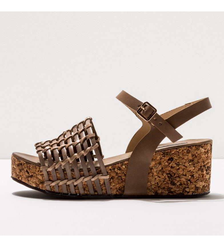 Comprar NEOSENS Leather sandals S3220 Arroba taupe -Wedge height: 6,5cm-.
