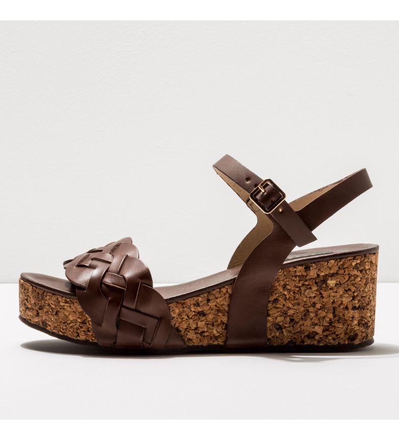 Comprar NEOSENS Leather sandals S3221 Arroba brown -Height of the wedge: 6,5cm- -Leather sandals S3221 Arroba brown -Height of the wedge: 6,5cm- -Leather sandals S3221 brown