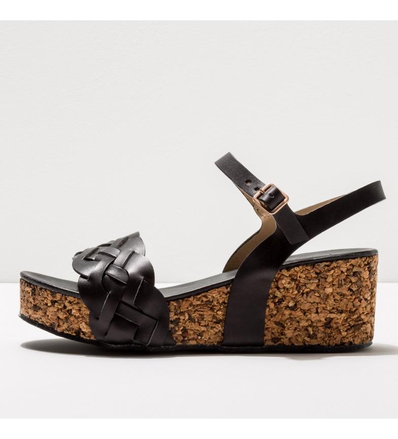Comprar NEOSENS Leather sandals S3221 Arroba black -Height of the wedge: 6,5cm- -Leather sandals S3221 Arroba black -Height of the wedge: 6,5cm- -Leather sandals S3221 black