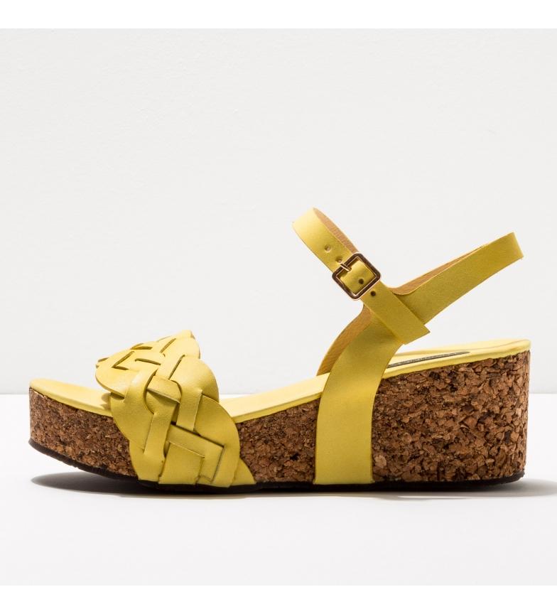 Comprar NEOSENS Sandálias de couro S3221 Arroba amarela -Altura da orla: 6,5cm-.