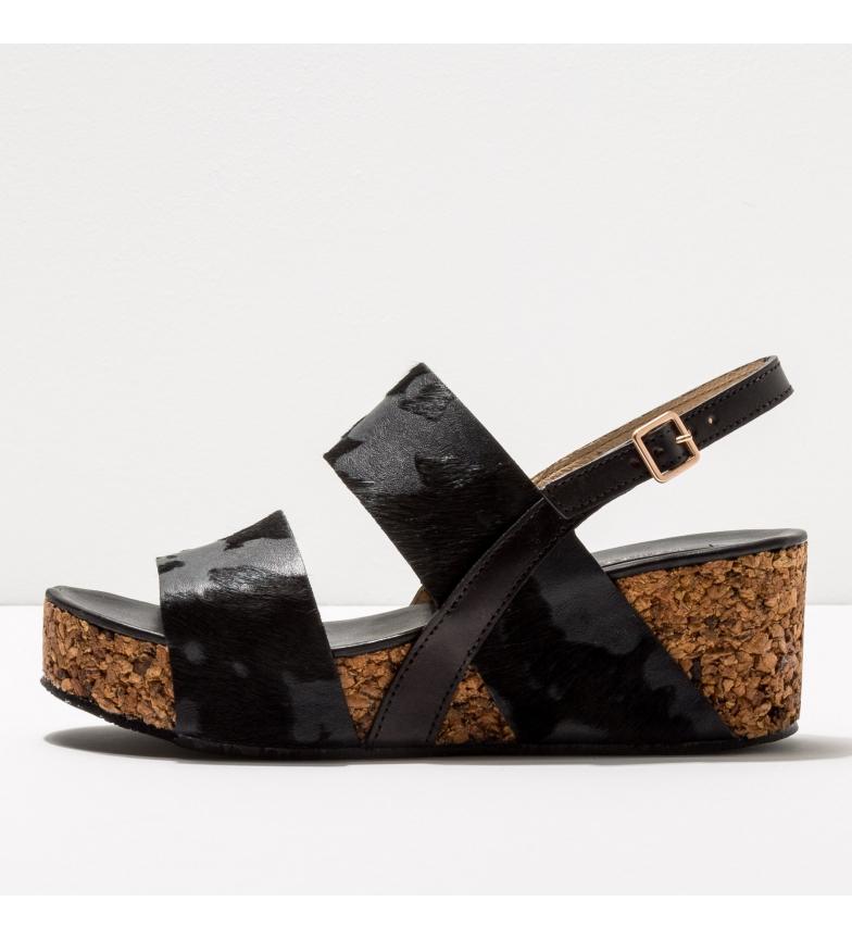 Comprar NEOSENS Leather sandals S3222P Arroba black -Height of the wedge: 6,5cm- -Leather sandals S3222P Arroba black -Height of the wedge: 6,5cm-