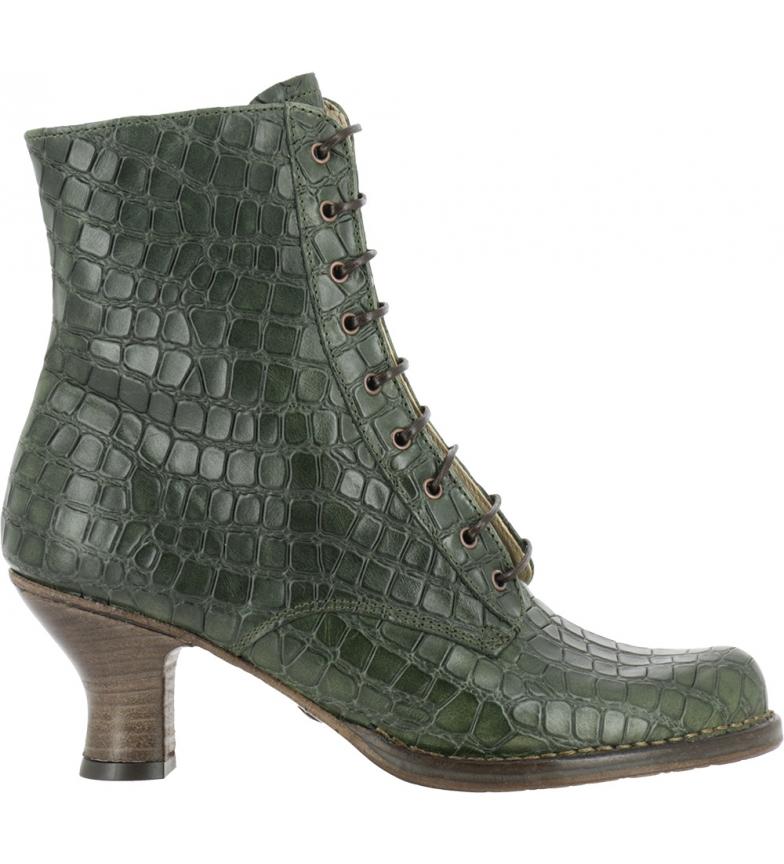 Comprar NEOSENS Bottines en cuir rococo S659 vert - Hauteur du talon : 6,5 cm