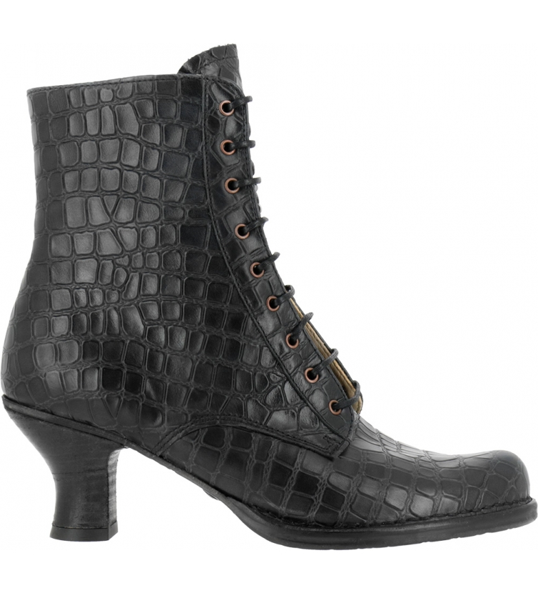 Comprar NEOSENS Bottines en cuir d'alligator noir S659 - Hauteur du talon : 6,5cm